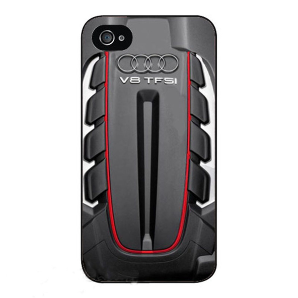 9ce7a1bfd4 Audi Twin Turbo V8 cell phone cases cover for Apple iphone 4 4s ...