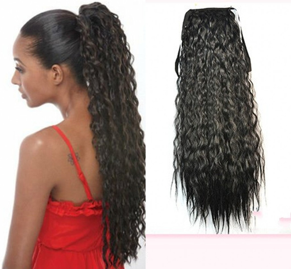Hot! Afro Puffs Ponytails 14 Color Drawstring Kinky Deep Curly ...