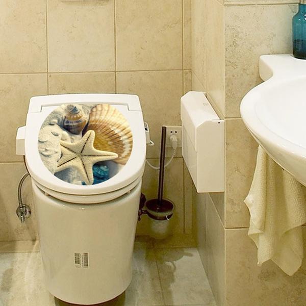 Wish | New Toilet Seat Wall Sticker Decals Beach Starfish Vinyl Art ...