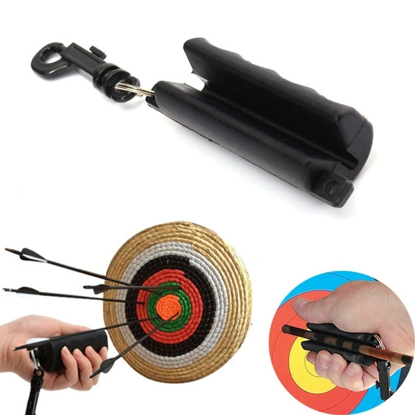 Black Gel Silica Archery Arrow Puller Remover Shooting Accessory