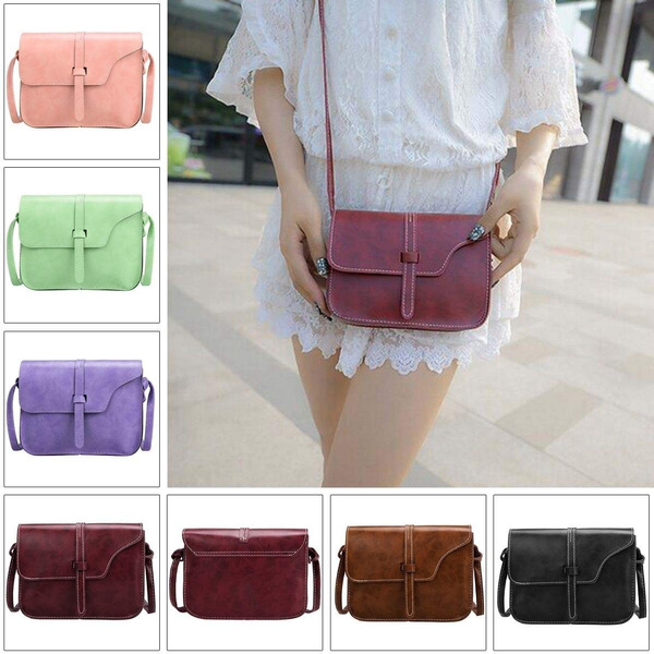 Picture of Women Fashion Retro Synthetic Leather Mini Solid Handbag Cross Body Shoulder Bags