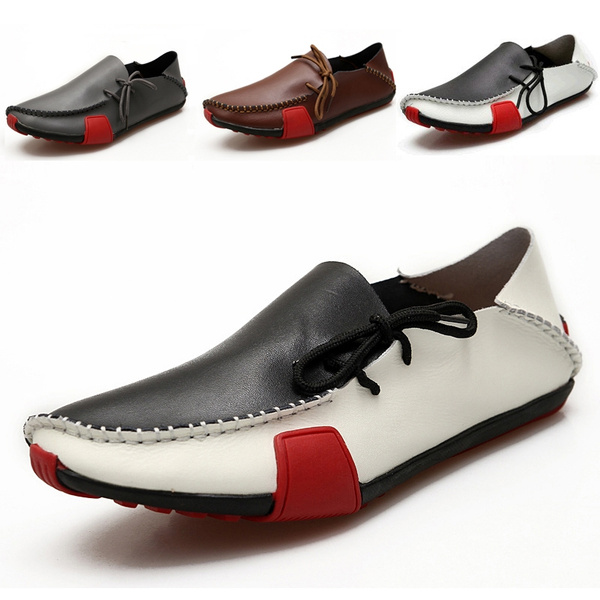 New Mens Driving Casual Boat Shoes Fashion Sneaker Moccasin Slip On Flat Loafers