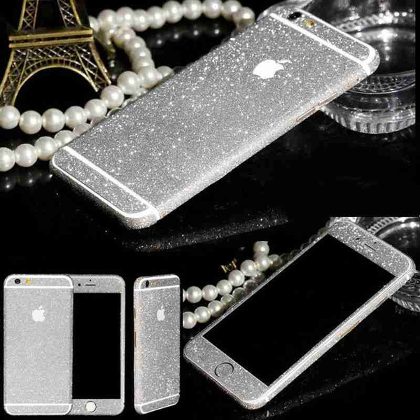 Picture of 8 Colors Diamond Glitter Bling Decals 360 Degree Protection Slim Sticker Case For Iphone 5 5s Se 5c 6 6s 6plus 6splus/samsung Galaxy S5 S6 S6edge S7 S7edge A3 A5 A510 A7 A710 A8 J310 J510 J710 G530/huawei Ascend P9 P9plus