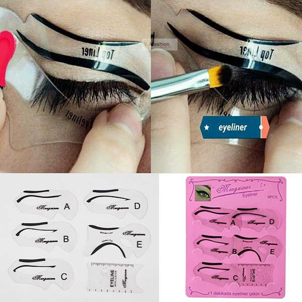 Fashion Makeup Kits Tool Treatment Cosmetic Eyes Eyeliner Drawing Cards GG