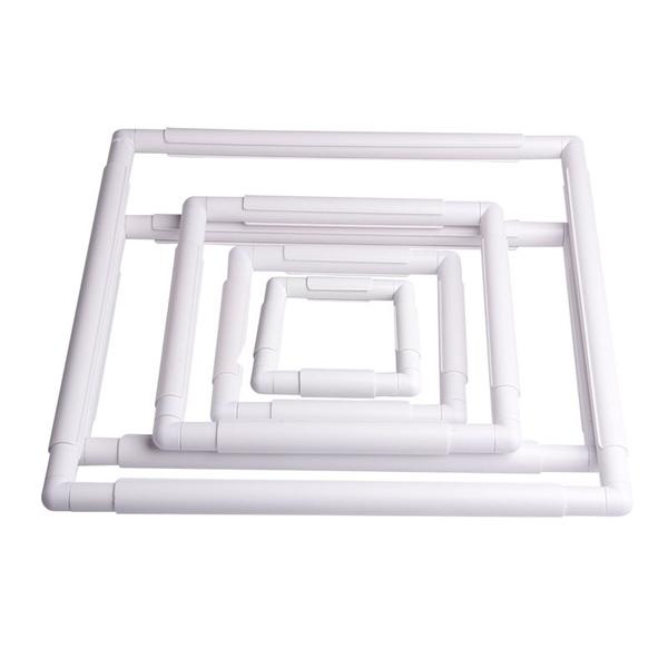 Wish   Handhold Square Shape Embroidery Plastic Frame Hoop Cross ...