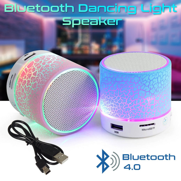 Wireless Bluetooth Mini Speaker Led Light Music Soundbox Wish