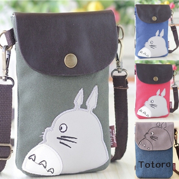 Picture of 1pc New Cute Cartoon Design Shoulder Bag My Neighbor Totoro Canvas Bag Women Handbags Keys Coin Phone Storage Bag Portable Cross-body Shoulder Bag