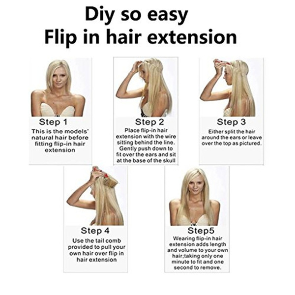 Wish Remeehi Body Wave Secret Halo Hair Extensions Flip Invisible