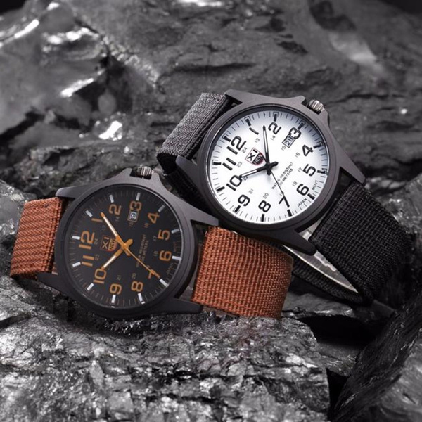 Picture of Men's Military Sports Watch Date Stainless Steel Analog Army Quartz Wrist Watch