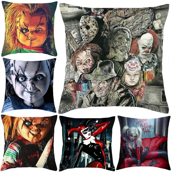 Picture of Horror Movie Chucky Polyester Throw Pillow Case Cushion Cover Home Decoration 18