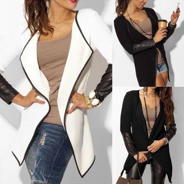 Jacket, cardigan, cardigancoat, leatheroutwear