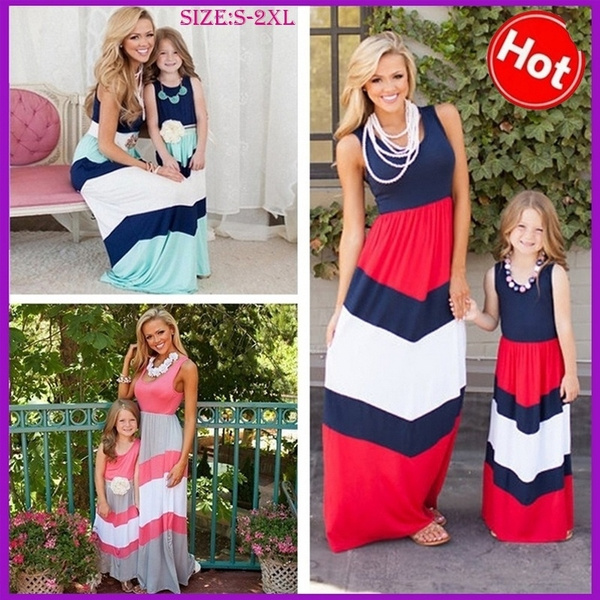 dc0895d53d Mommy Me Matching Dresses 2016 Summer Mother Daughter Matching ...