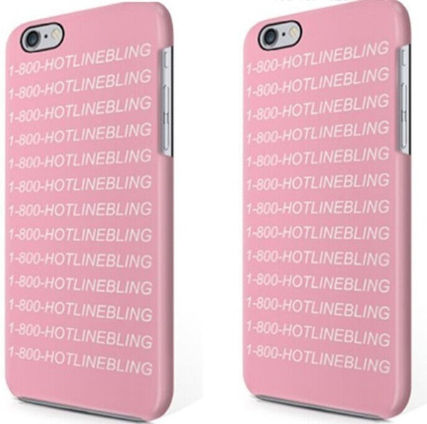 the latest 63558 480d5 1-800 Hotline Bling Soft Plastic Case Cover for iPhone 7/7 Plus/6/6s/6s Plus