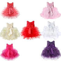 Baby Girls Toddlers Flower Party Dress Princess Wedding Party Pageant Bridesmaid Tutu Dresses