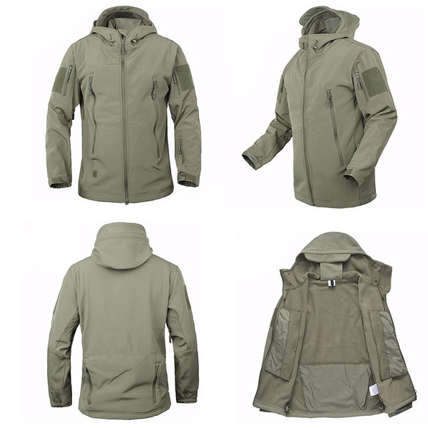 c1980560878 Army Camouflage Coat Military Jacket Waterproof Windbreaker Raincoat  Clothes Army Jacket Men Jackets And Coats