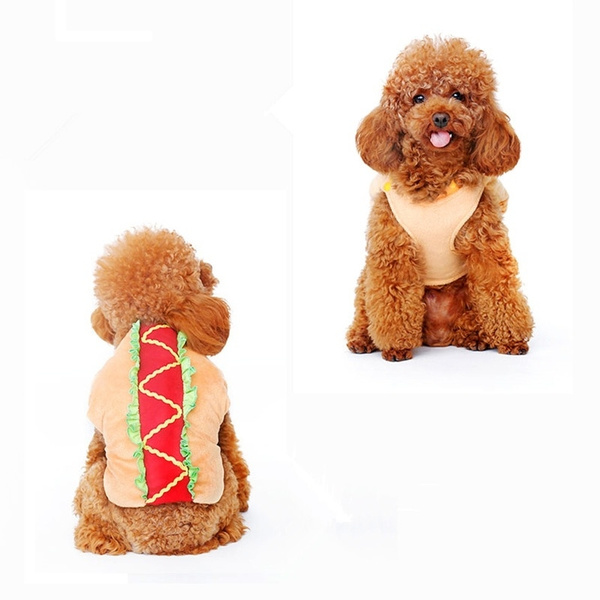 Dogs Cats Costume Coats Doggy Hamburger Jackets Puppy Coats Festival