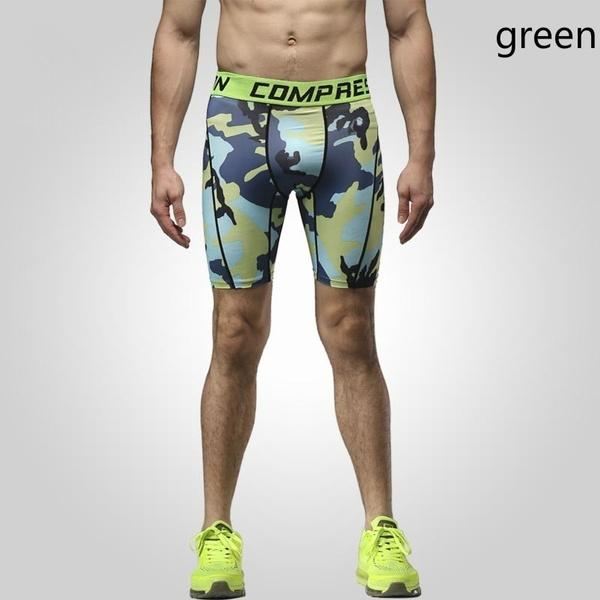 New Running Sport Mens Basketball Tight Compression Shorts Gym Fitness Brand Clothing Training Wicking Short Pants Homme Men