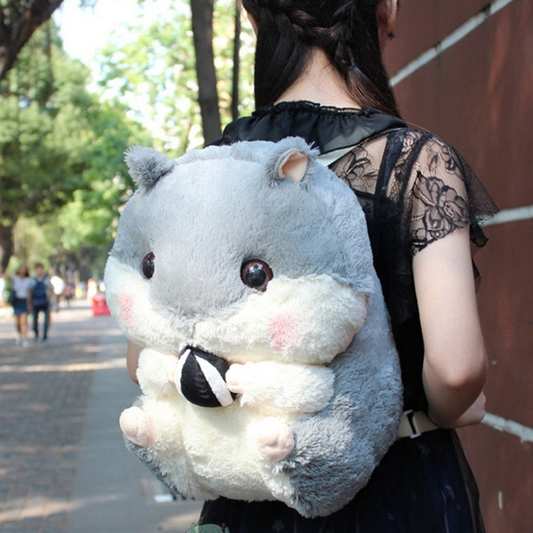 Super Q Cartoon Chubby Hamster Squirrel Plush Toy Doll Backpack Shoulder Bag Birthday Gift Valentines Day Gift by Wish