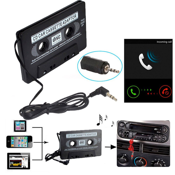 3.5mm Audio AUX Car Cassette Tape Adapter Converter for iPod iPhone MP3 MP4 CD