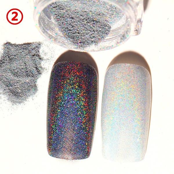 Wish | 2g Shiny Rainbow Laser Magic Mirror Powder Nail Glitter ...