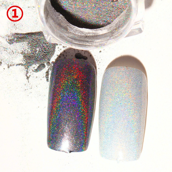 2g Shiny Rainbow Laser Magic Mirror Powder Nail Glitter Fashion Pretty Metal Pigments Dust Women Nails Decoration Accessories Gifts