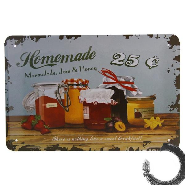 Metal Tin Sign homemade mermelada Pub Bar Home Vintage Retro Poster Cafe ART