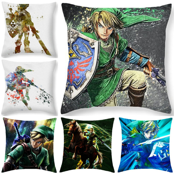 Picture of Link Legend Of Zelda Art Print Game Throw Pillow Case Cushion Cover Home Decor 18