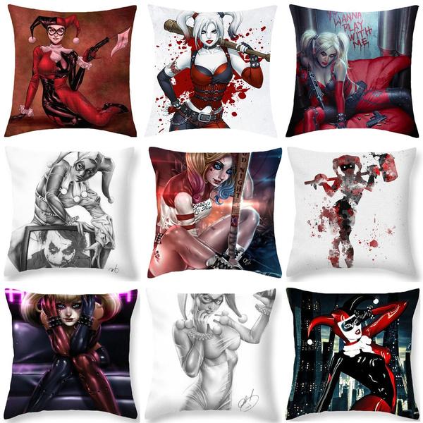 Picture of Harley Quinn Cosmic Superhero Super Villain Throw Pillow Case Cushion Cover Home Decor 18