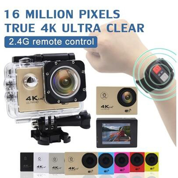 Picture of Action Camera 16mp 4k/30fps Wifi 2.4g Remote Controller Cam Underwater Waterproof Ultra Hd Sport Camera