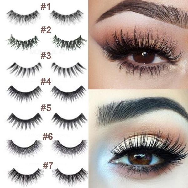 12b83c429d9 Makeup Huda Handmade False Eyelashes Thick Natural Fake Eye Lashes ...