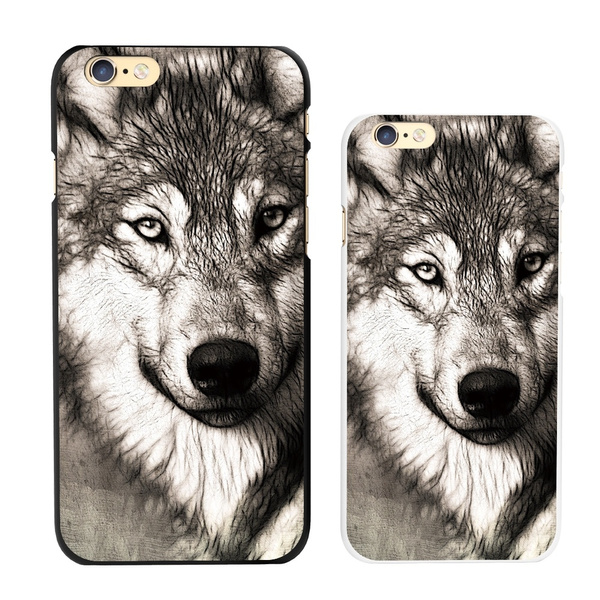 Picture of Animal Print Wolf Pattern Back Cover