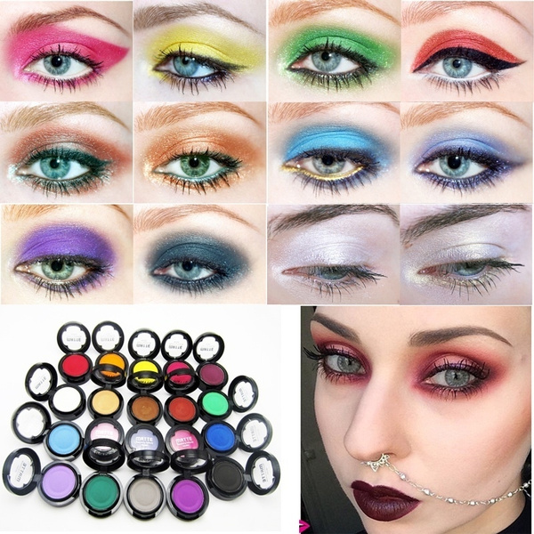 Picture of 20 Colors Beauty Pigment Matte Eyeshadow Powder Single Color Eyeshadows Pallette Makeup