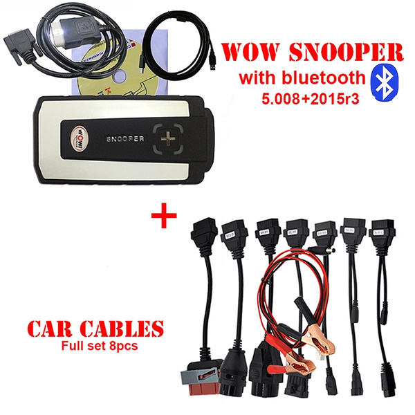 WoW Snooper come with V5 008 R2 +2015 R3 Diagnostic scan Tool TCS CDP  Strong cdp pro plus new vci With Bluetooth+Full 8 truck cables