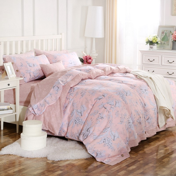 Merveilleux Bed Sheets Cotton Flower Bedding Sets Queen King Duvet Cover Cotton  Desinger Bed Linen Bed Cover Linen Home Bed