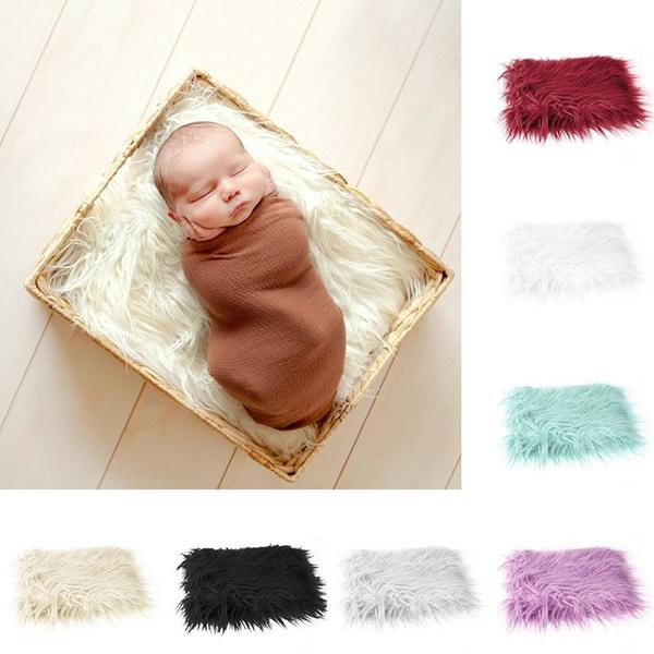 Newborn Baby Infant Soft Faux Fur Rug Mat Blanket Backdrop Photography Props