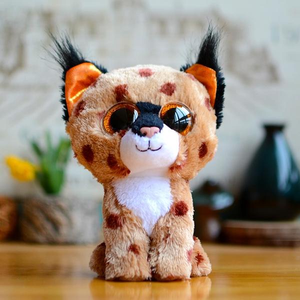 bda11f99cbe Ty Beanie Boos Kids Plush Toys Big Eyes Buckwheat Brown Lynx Lovely  Children Gifts Kawaii Stuffed Animals Dolls Cute Present
