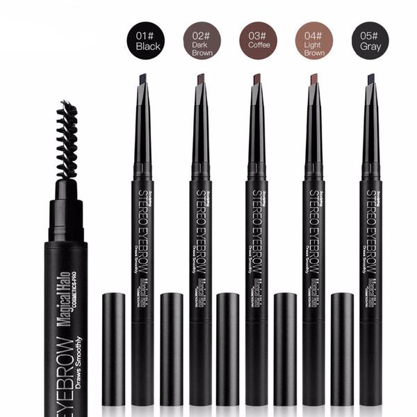 Picture of Waterproof Eye Brow Eyeliner Eyebrow Pen Pencil With Brush Makeup Cosmetic Tool