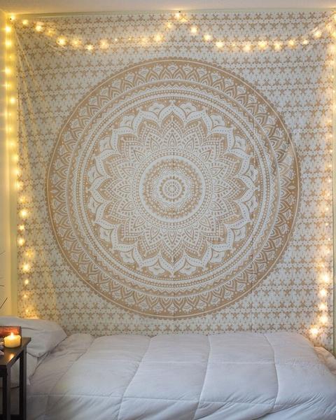 Summer, art, mandalatapestry, golden