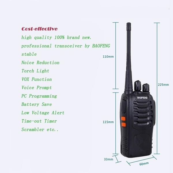 4PCS Two-Way Radio Walkie Talkie Handy Pofung Bf-888s Baofeng 888s With 5w  CB Radio Scanner Handheld Ham Radio HF Transceiver