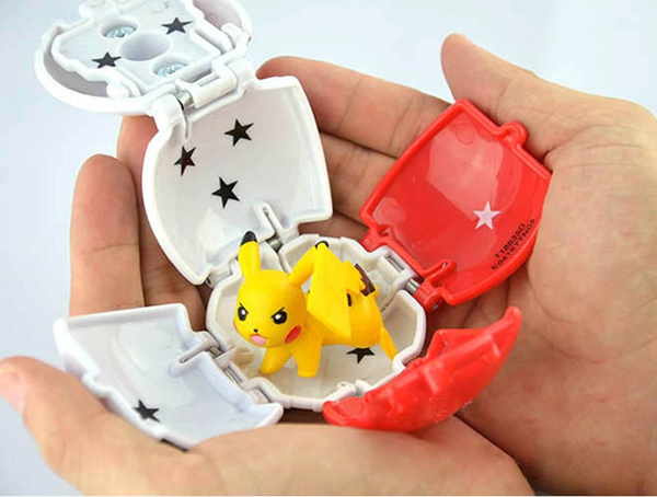 Throw Automatically Bounce Pokeball With Pokemon Pikachu Anime Action Figures Creative Children's Toys