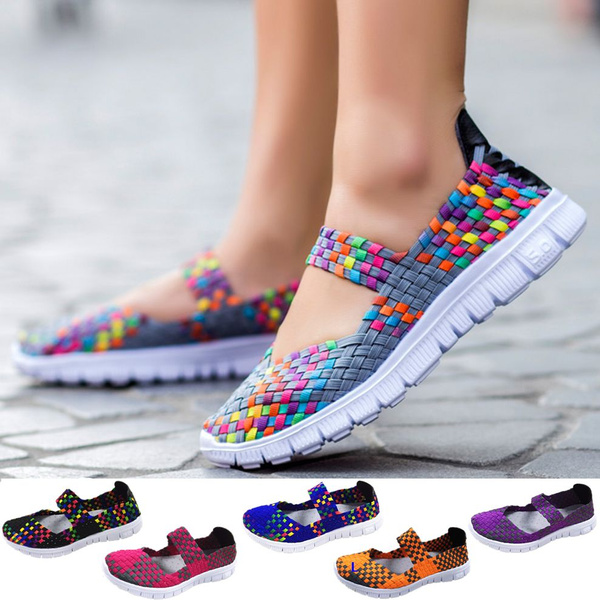 Picture of New Women Hanmade Woven Super Soft Flat Casual Sport Shoes 35-42