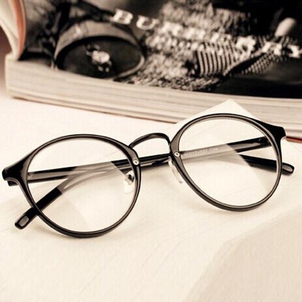 Picture of Mens Womens Nerd Glasses Clear Lens Eyewear Unisex Retro Eyeglasses Spectacles