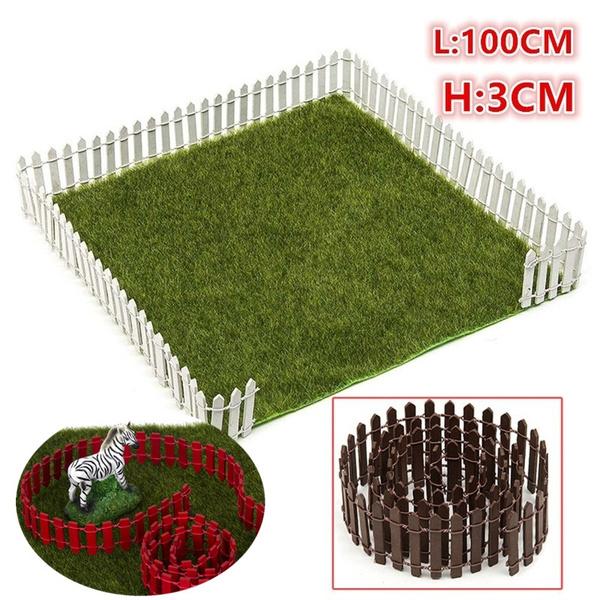 Miniature Small Wood Fence DIY Fairy Garden Micro Dollhouse Plant Pot Decor