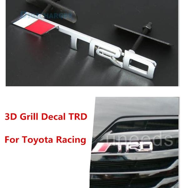 3D SRT Metal Front Grille Grill Badge Emblem Car Racing Logo