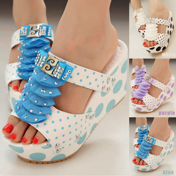 Picture of Summer Platform Shoes Wedges Shoes For Women Slippers Sandale Femme Size 36-39
