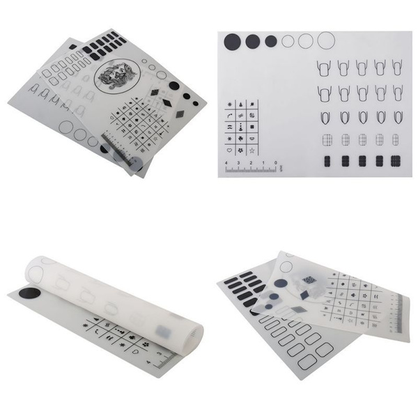 Nail Art Stamps Manicure Table Reverse Transfer Water Marble Practice Workspace Stamping Plate Design Manicure Silicone Nail Mat