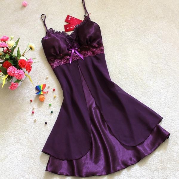 night dress, nightwear, Lace, sexy pajamas