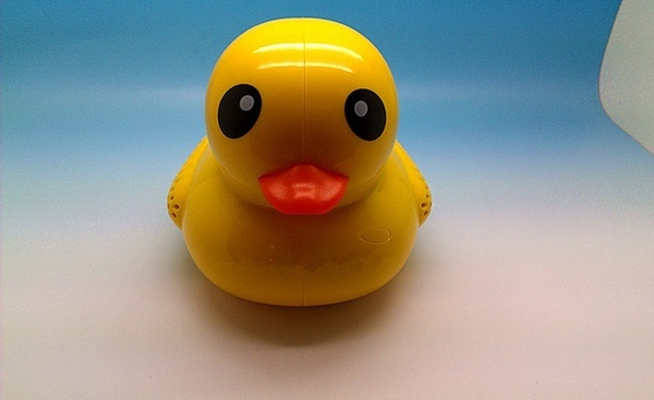 Wish | Cute Big Yellow Duck Mini Portable Speaker Rechargeable ...