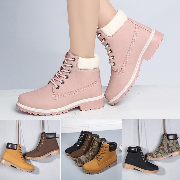 Picture of Camouflage Martin Ankle Snow Boots Stylish Winter Shoes High-top Boots British Style