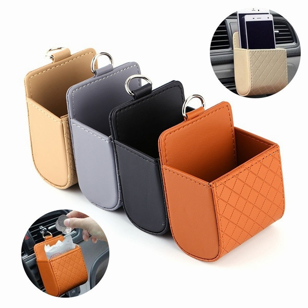 Car Seat PU Back Tidy Storage Coin Bag Case
